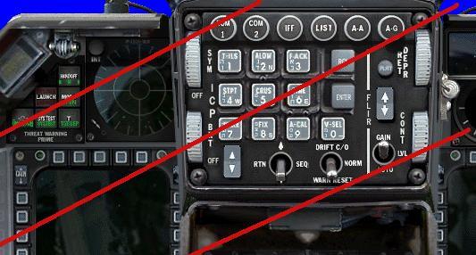 הקוקפיט של פאנתר ל-F16 עם ICP בעברית