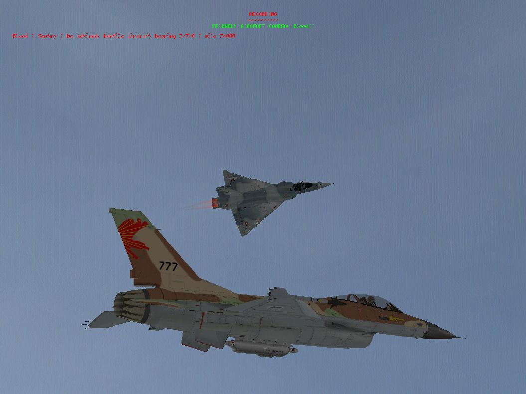 קרב אוויר Mirage vs F16A