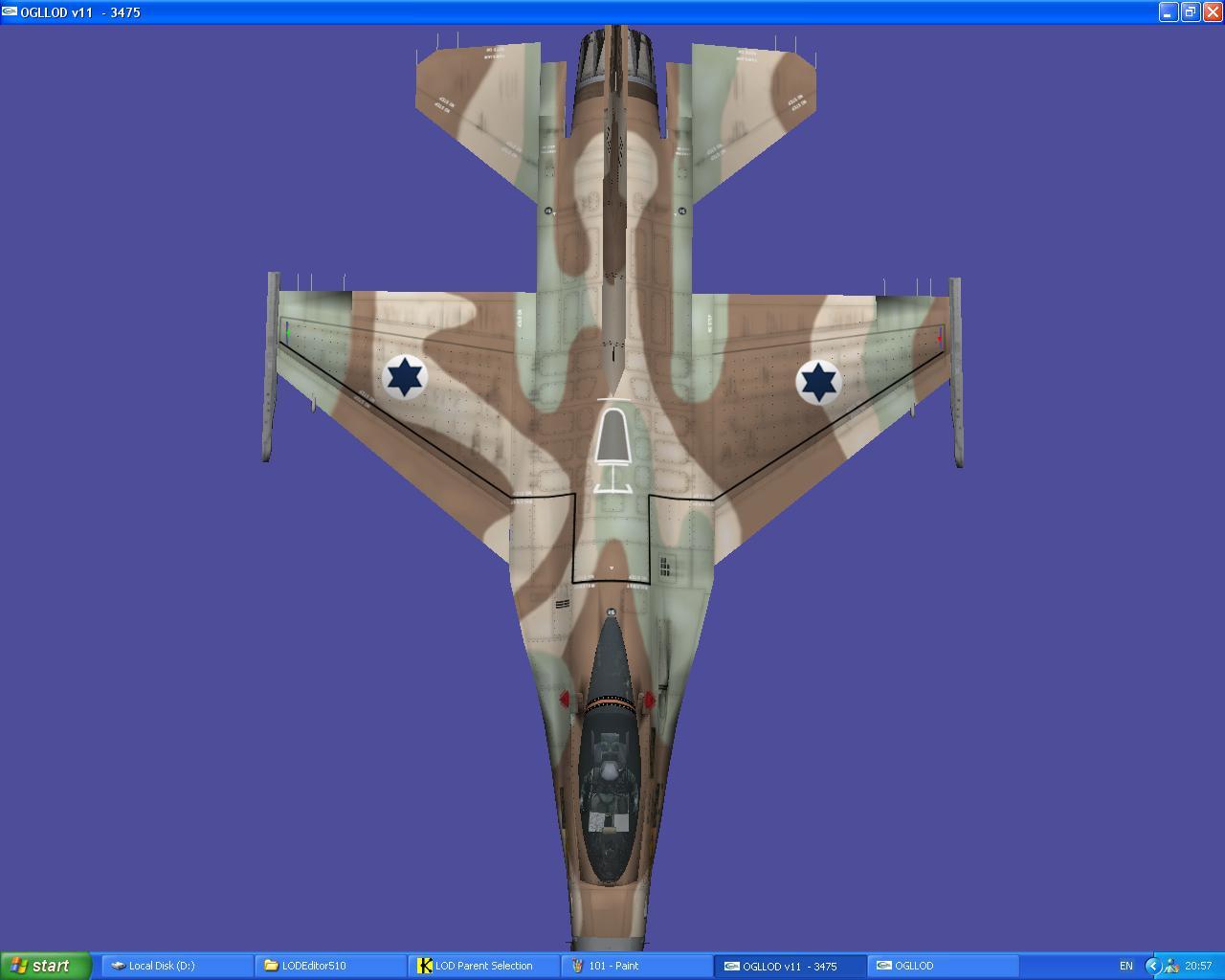 מודל וסקינים ל-F16C -