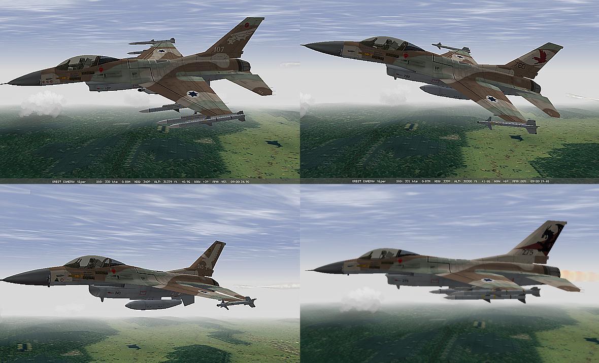 חבילת סקינים למטוס הנץ (F16A)