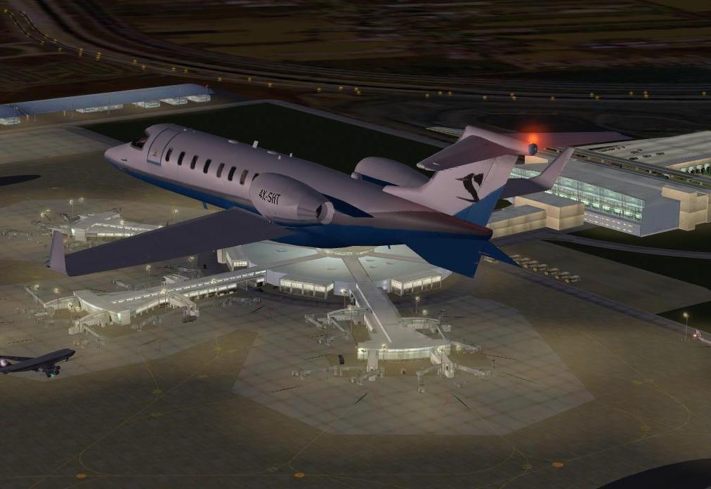 צביעת שחקים ל-Bombardier Learjet 45
