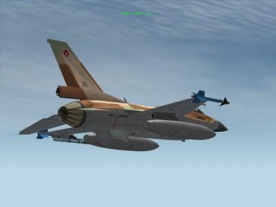 מודל של בידון 600 גאלון לF-16
